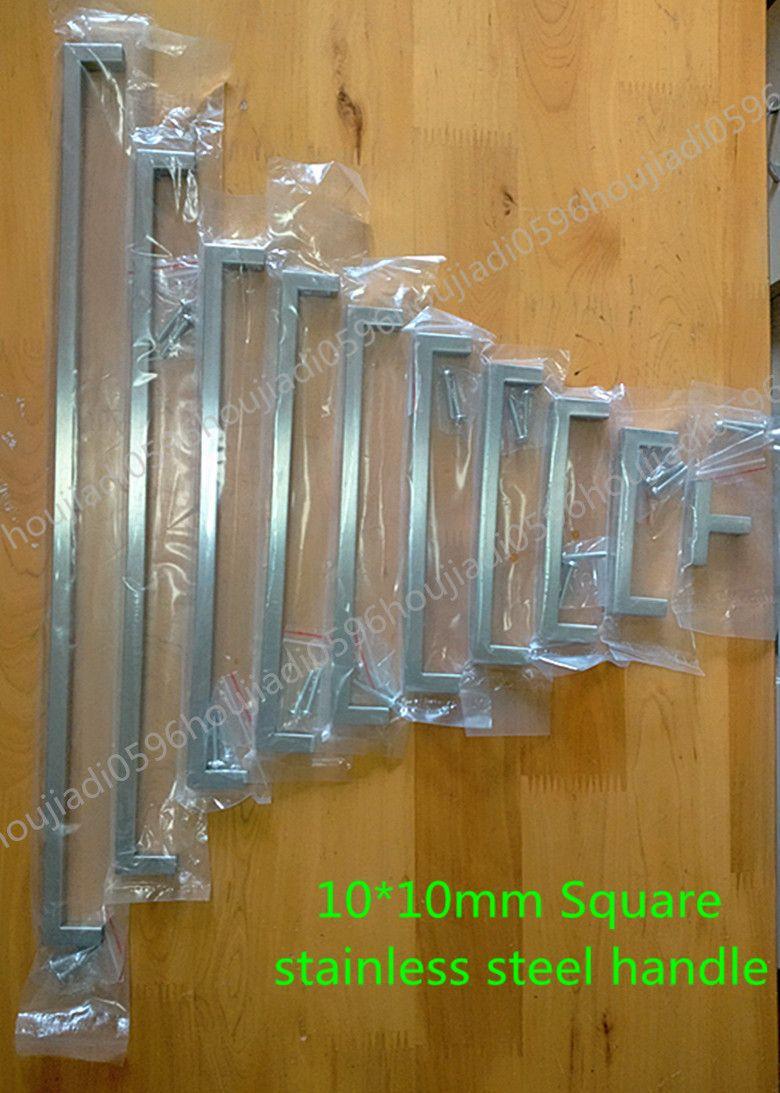 10*10mm Cuadrados de Acero Inoxidable manija de la puerta Puerta de ...