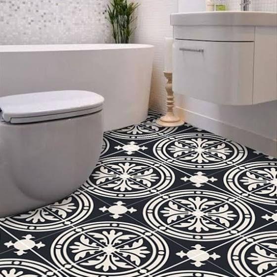 floor tile decals black in 2019 Floor stickers, Floor
