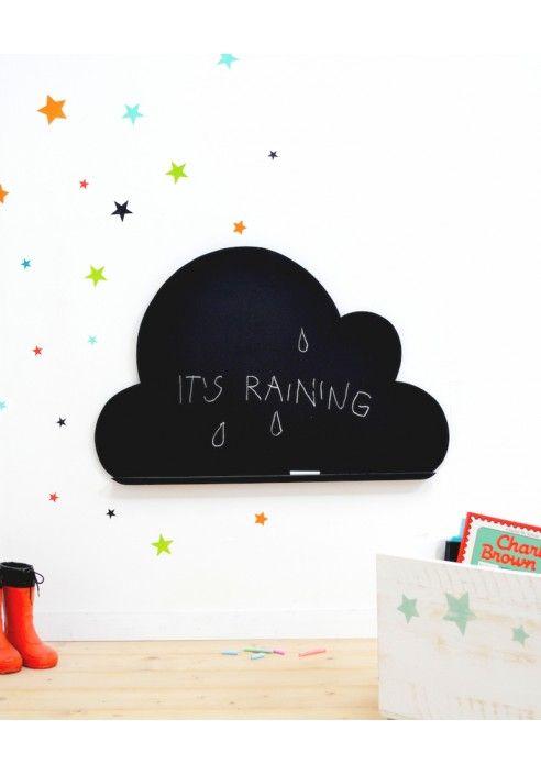 Pizarra Nube Pizarra Infantil Decoracion Para Ninos Paredes De
