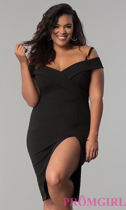 Short OfftheShoulder Party Dress in Plus Sizes is part of Party Clothes Plus Size - I like Style MBMp5015 from PromGirl com, do you like
