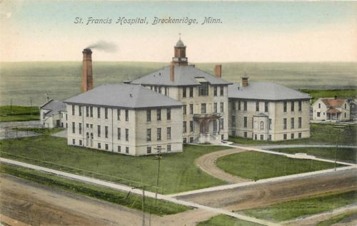 Breckenridge Mn Saint Francis Hospital Hand Colored Vintage