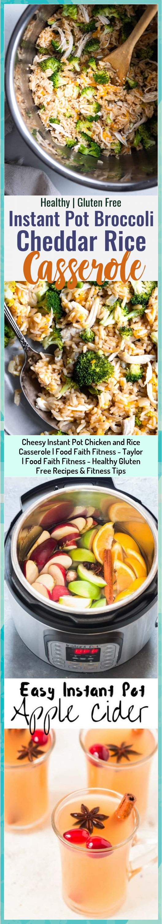 Cheesy Instant Pot Chicken and Rice Casserole   Food Faith Fitness - Taylor   Food Faith Fitness - H...