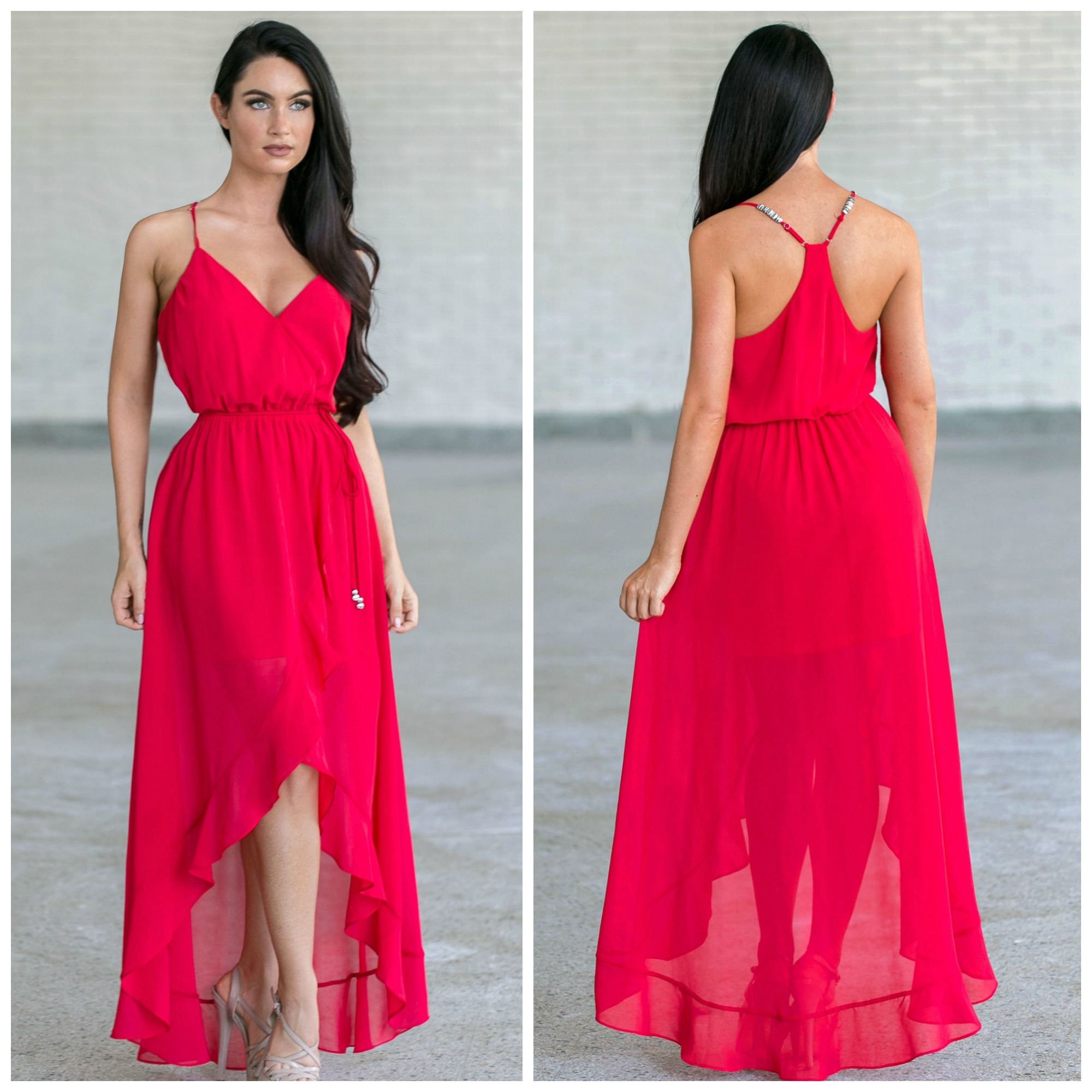 This red dress has a high low cut: http://ss1.us/a/2CSRea4m ...