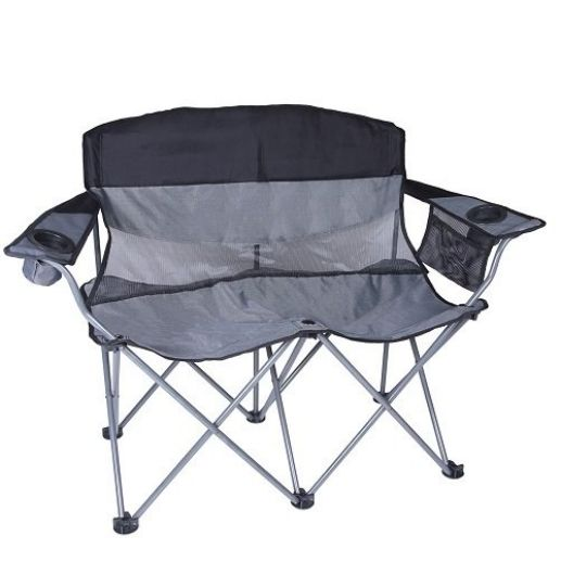 2 Person Double Arm Folding Chair Great For Camping,hiking, Picnics,  Sporting Events,etc.