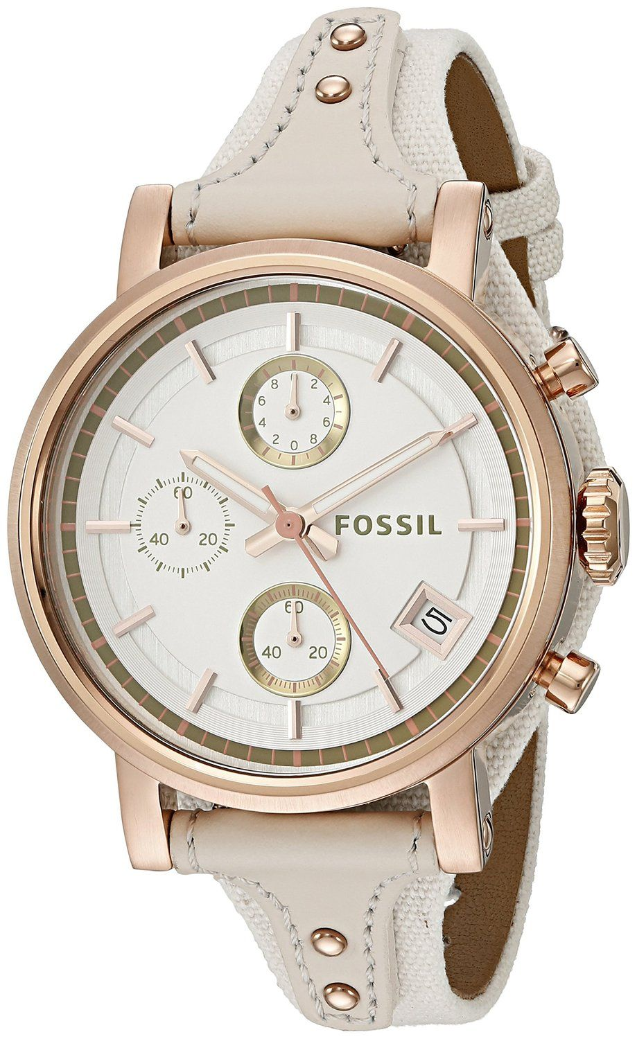 a6b12a9a9ef Fossil Women s ES3947 Original Boyfriend Chronograph Light Brown Leather  Watch     You can get more details by clicking on the image.