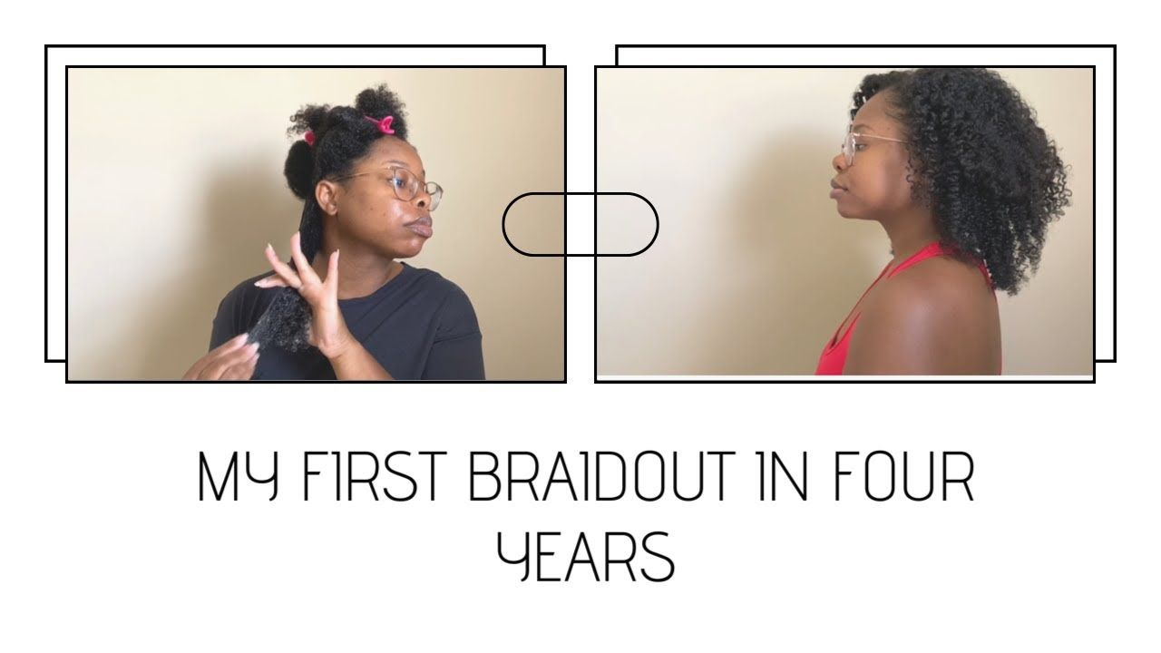 My First Braidout in 4 Years | Pass or Fail? #blackowned - YouTube