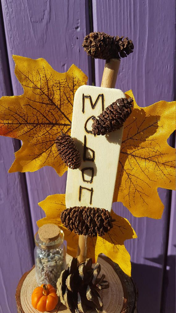 Photo of Mabon Ornament, Autumn Decor, Miniature Pumpkin, Leaf Decoration, Pagan Altar, Pine Cones, Dried Lavender, Wheel of the Year, Wiccan Home