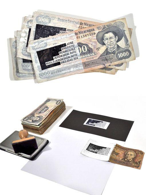 Bankbiljet visitekaartje