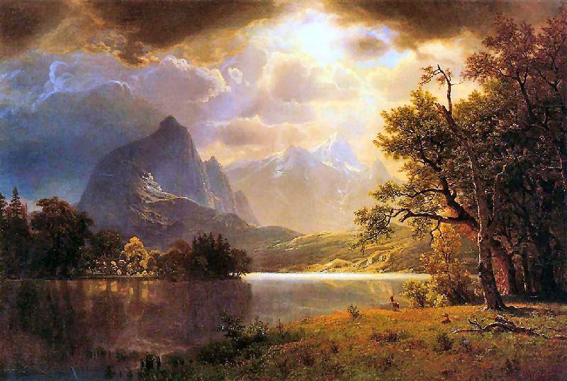 Estes Park Colorado Albert Bierstadt Albert Bierstadt Paintings Albert Bierstadt Colorado Painting