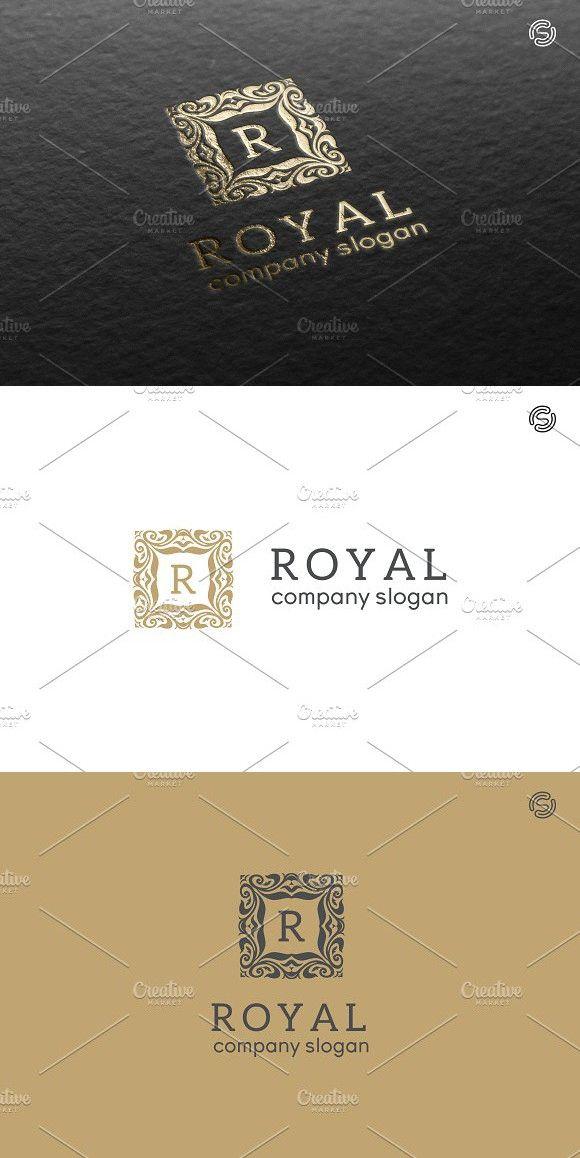 Royal Logo Template  Wedding Fonts | KFO | Royal logo, Logo
