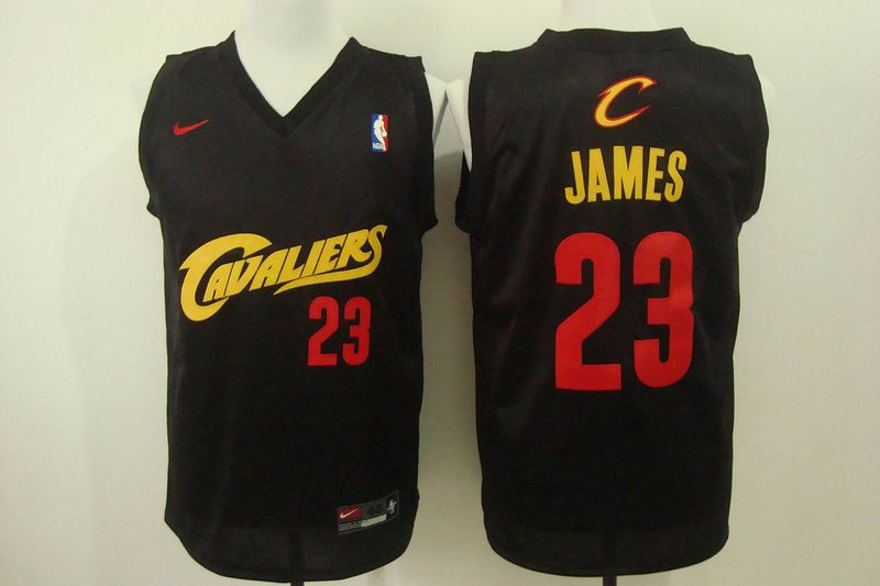 8056ca3fd Cleveland Cavaliers  23 LeBron James Black Fashion Replica Jersey ...