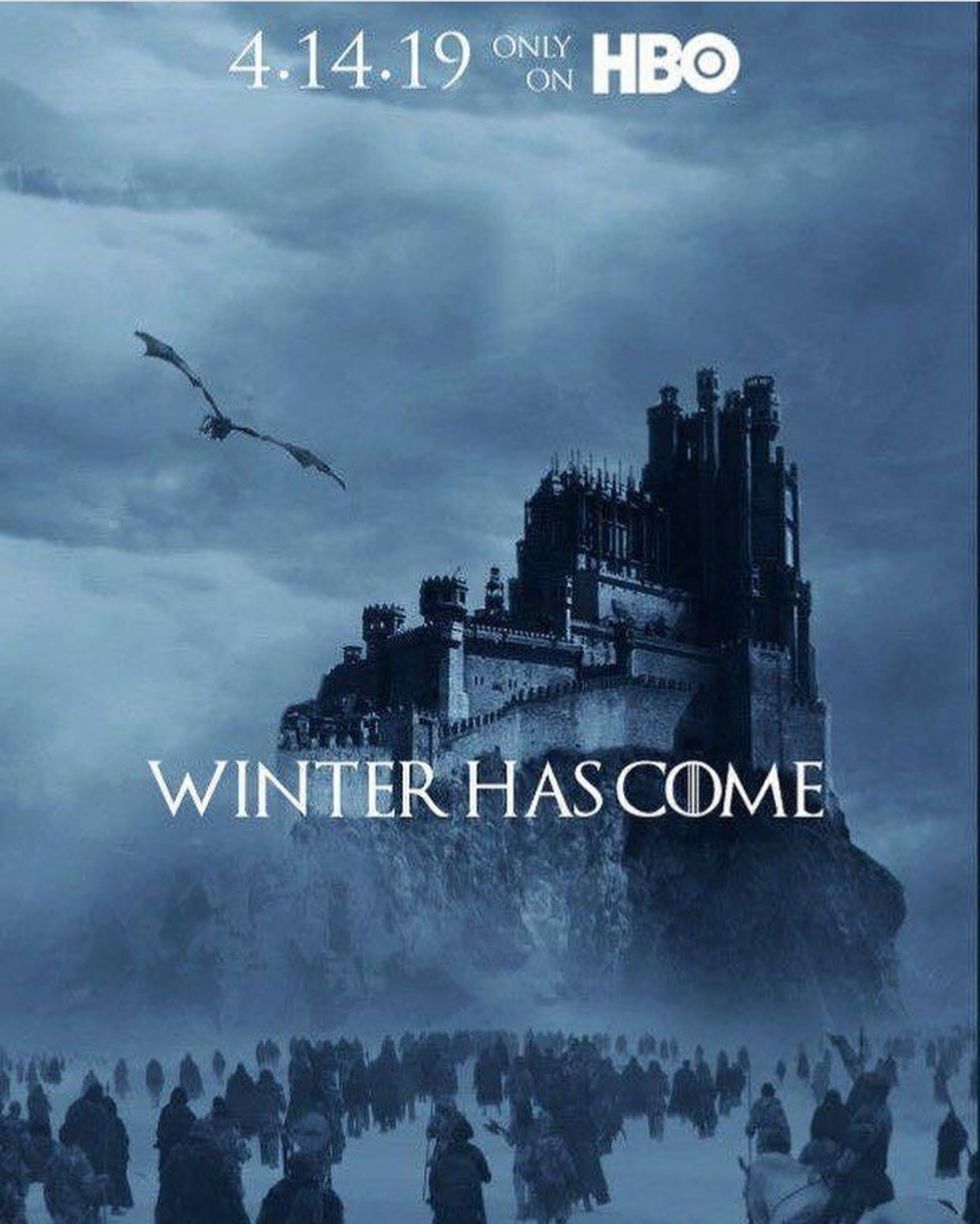 Save the date! Game of thrones fans, Winter is here