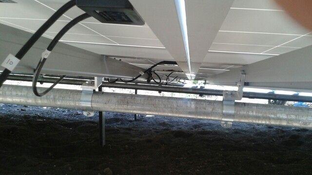 My first solar panel work.