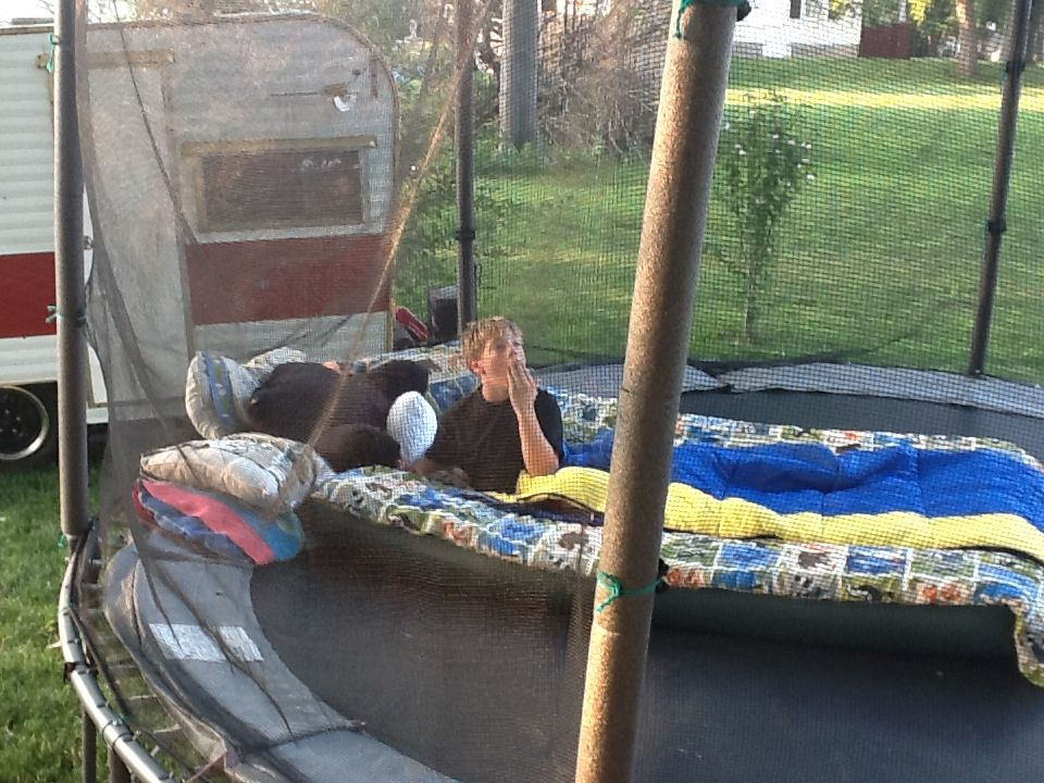 Camp on a trampoline cra things to do trampoline