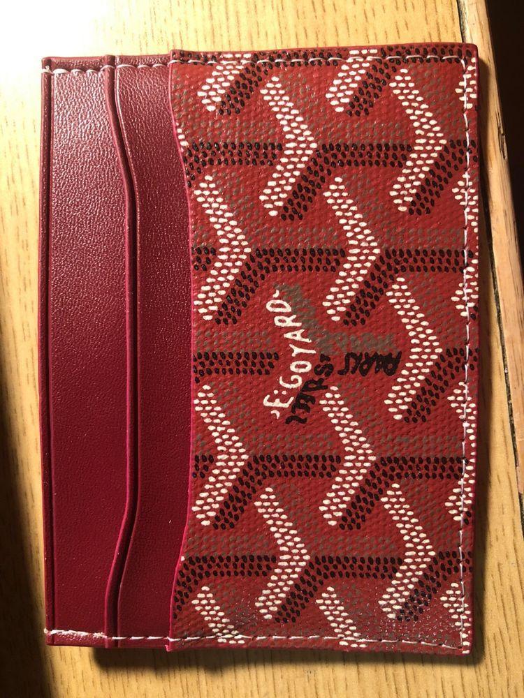 Goyard st sulpice card holder mens designer wallet