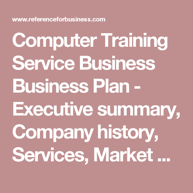 training center business plan