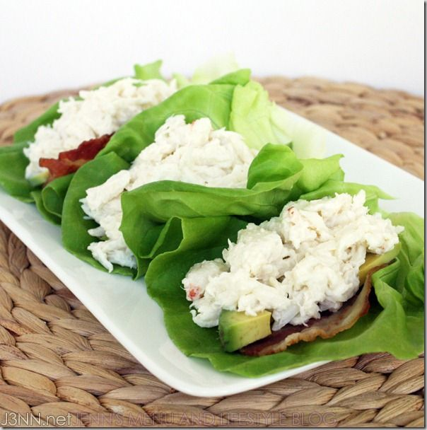 Lump Crab Meat Lettuce Cups with Bacon and Avocado