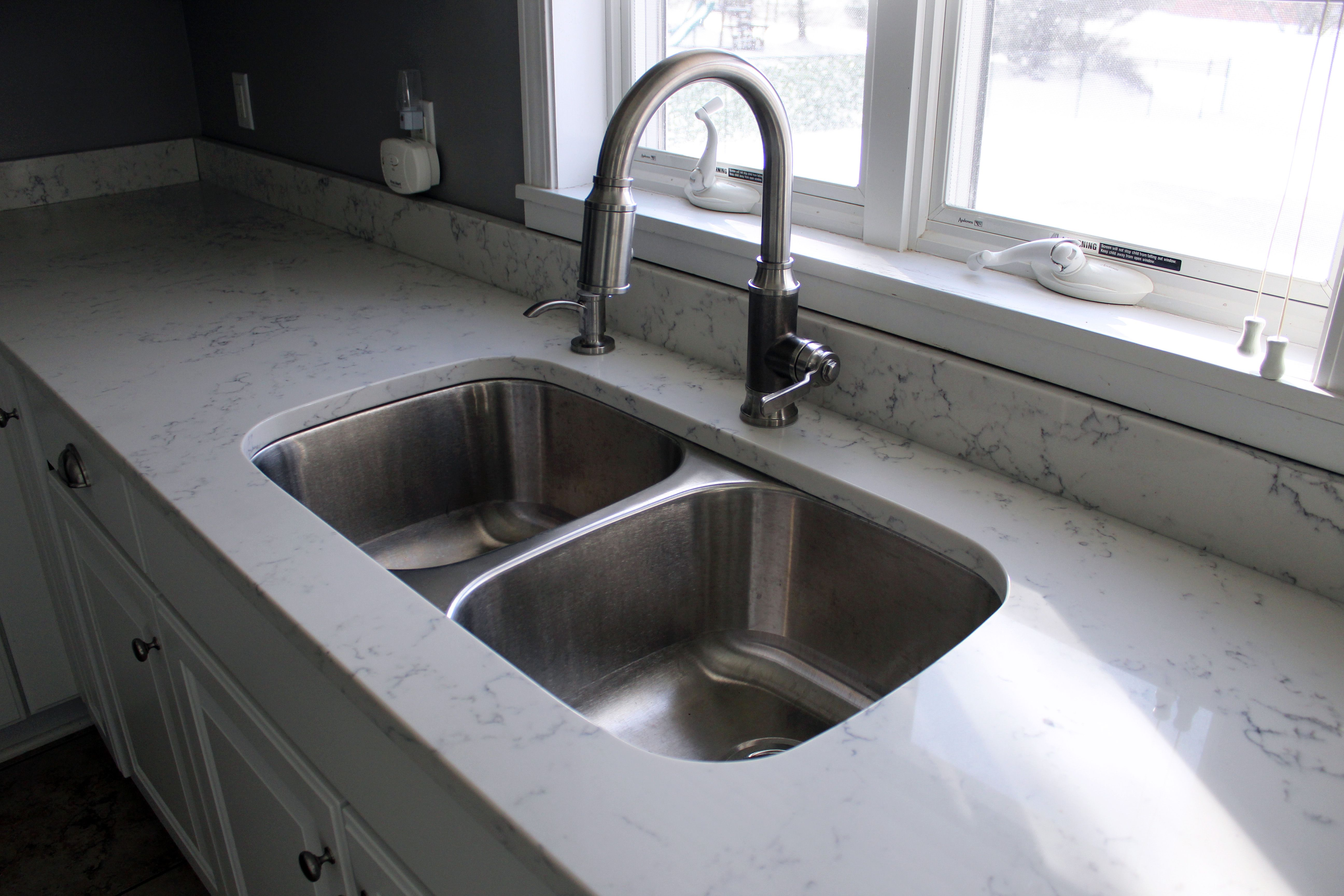 Carrara White Quartz By Aggranite 502a Sink By Midwest Aggranite
