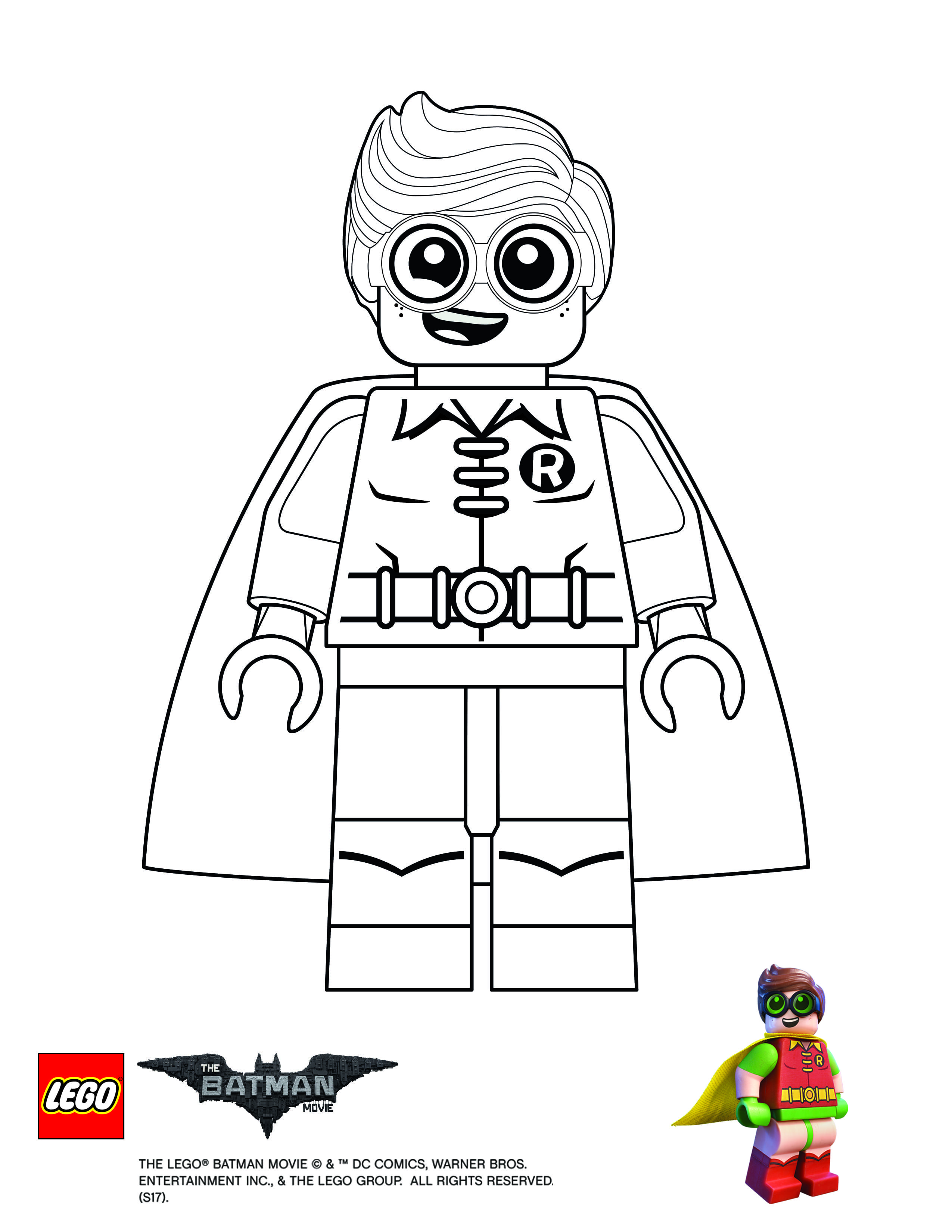 Coloring Page Robin With Images Batman Coloring Pages Lego