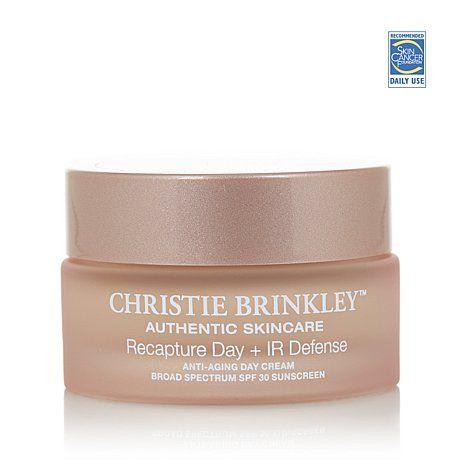 Christie Brinkley Recapture Day Ir Defense Cream Hsn Christie Brinkley Skin Care Wrinkles Cream