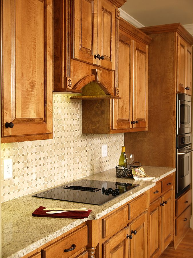 Kitchen Backsplash Ideas With Honey Oak Cabinets | Dandk ...