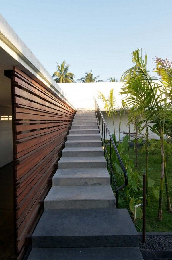 Intriguing Modern Crib In India Khadakvasla House Freshome Com | Indian House Steps Design Outside | Middle Class | Home Front Sunside | Outside View | Wooden | Balcony