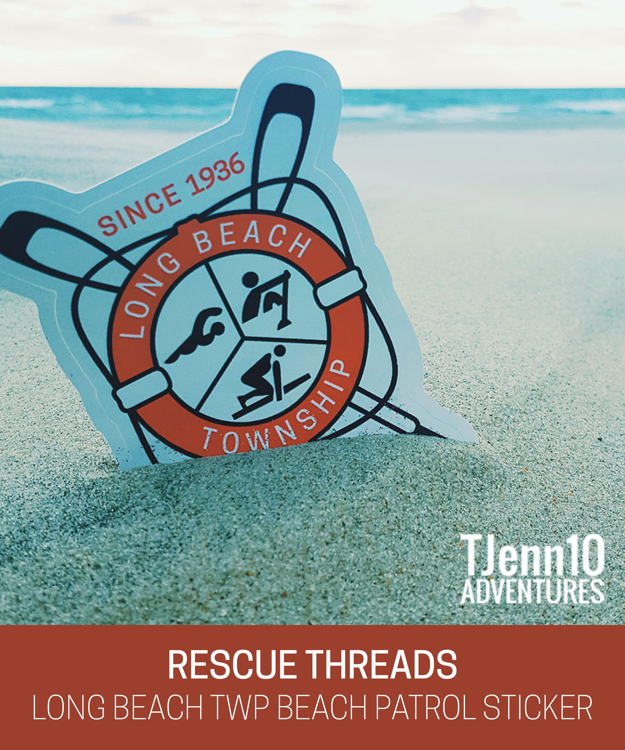 Rescue threads lbtbp sticker 2 00 making saves in style lifeguard apparel and custom designs