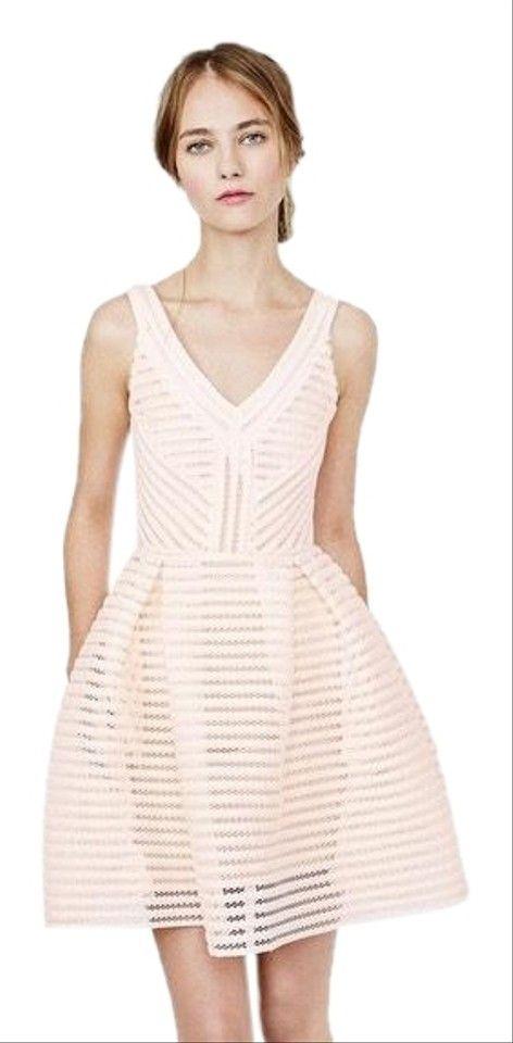 Photo of Maje Pink Pastel Blush Fit Flare Short Cocktail Dress Size 2 (XS)