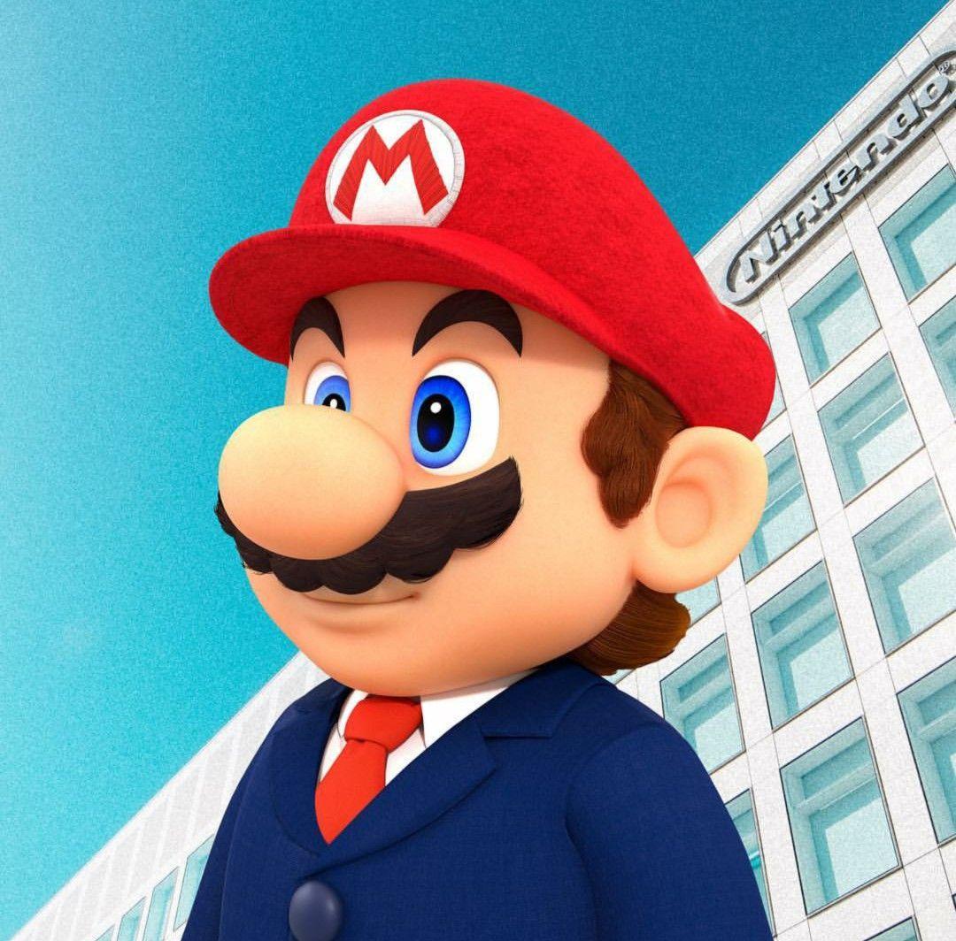 Mario at the Nintendo Headquarters Super mario bros
