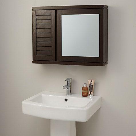 John Lewis Partners Bali Double Mirrored Bathroom Cabinet