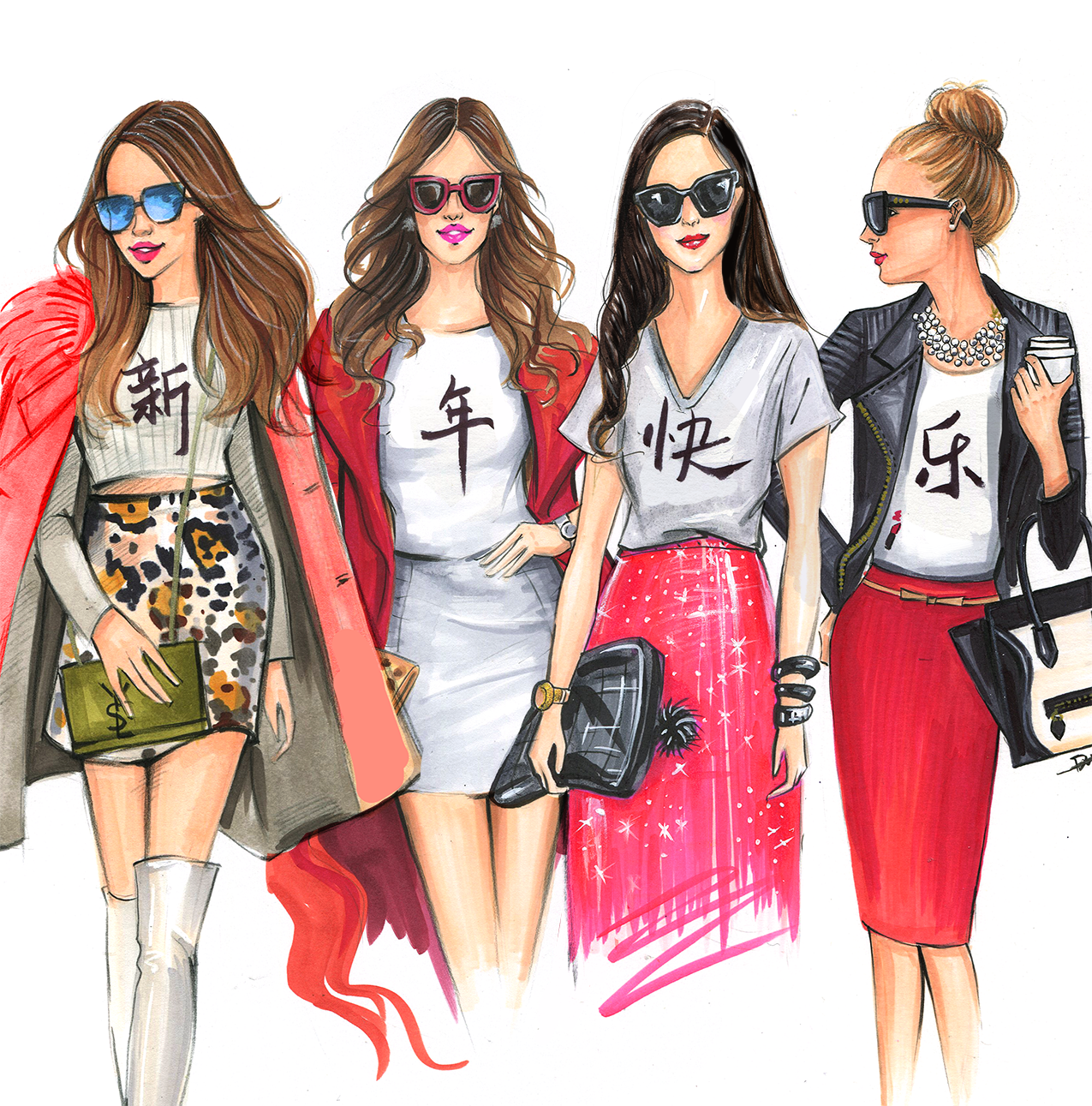 Fashion sketches new fashion sketches - Fashionistas Celebrate Chinese New Year By Houston Fashion Illustrator Rongrong Devoe More Fashion Illustrations At