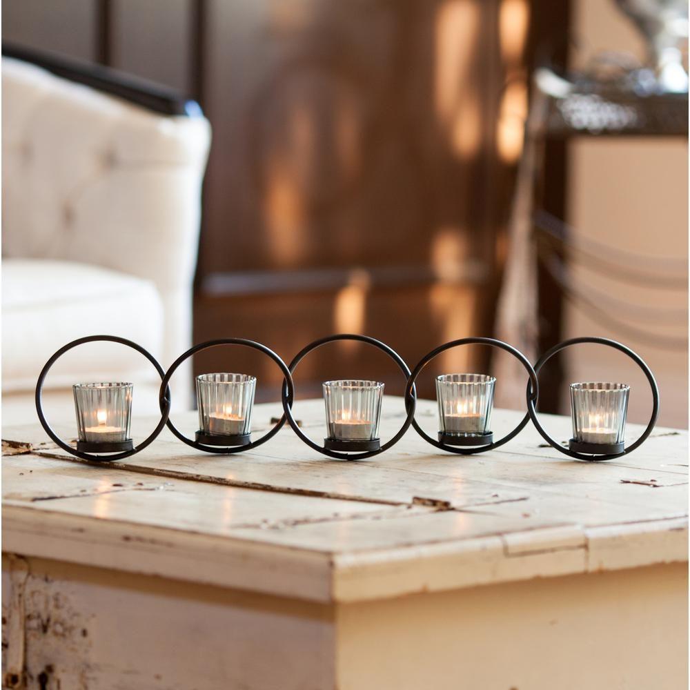 Danya B 5 Ring Interlocking Metal Votive Candle Holder Se101 Votive Candle Holders Candle Holders Votive Candles