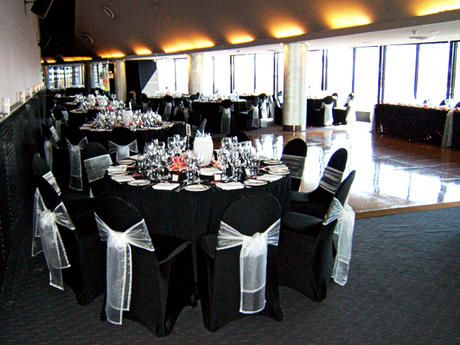 Black Wedding Chair Covers