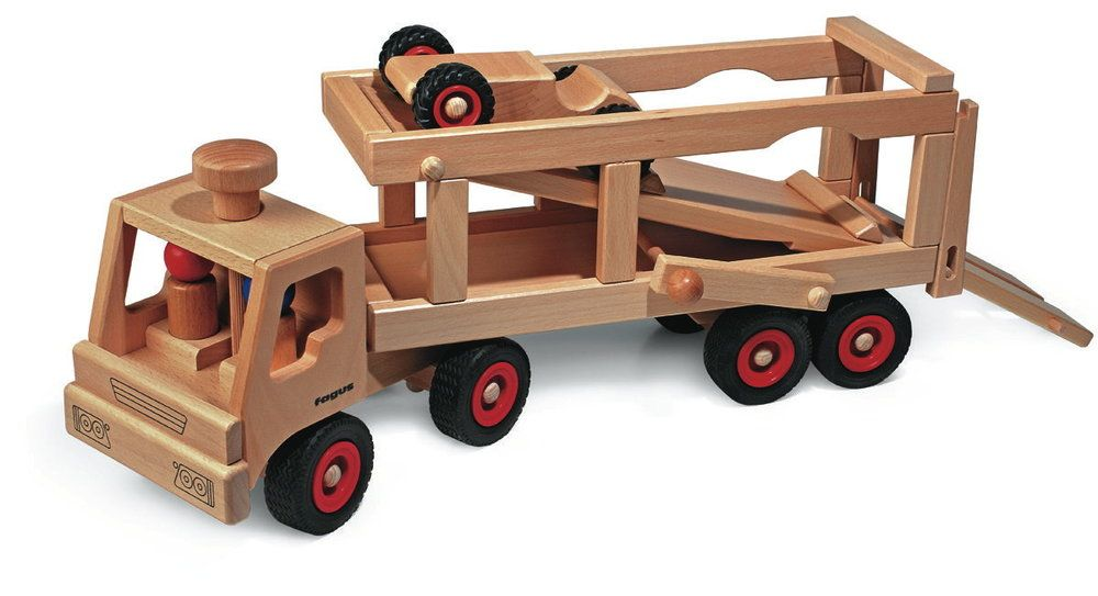 Fagus Wooden Car Transporter Is A Steerable Vehicle Which