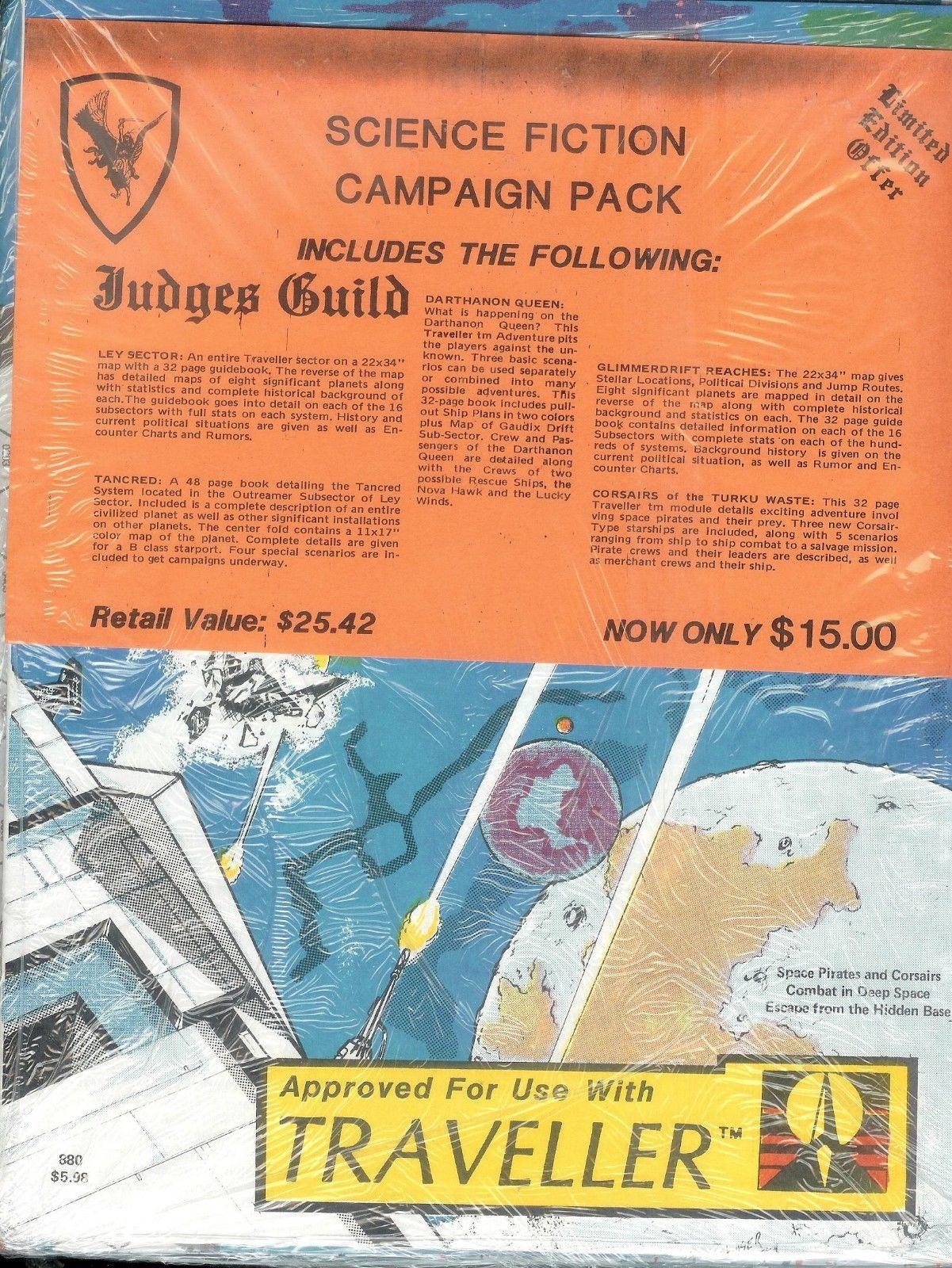 $9 99 - Judges Guild Traveller Science Fiction Campaign Pack Five