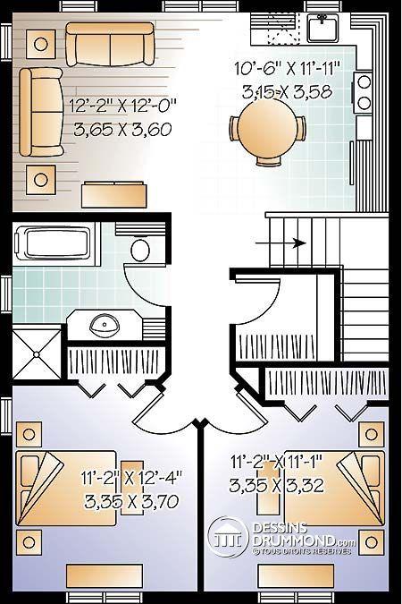 Détail du plan de Maison unifamiliale W3954-V1 Idées pour la