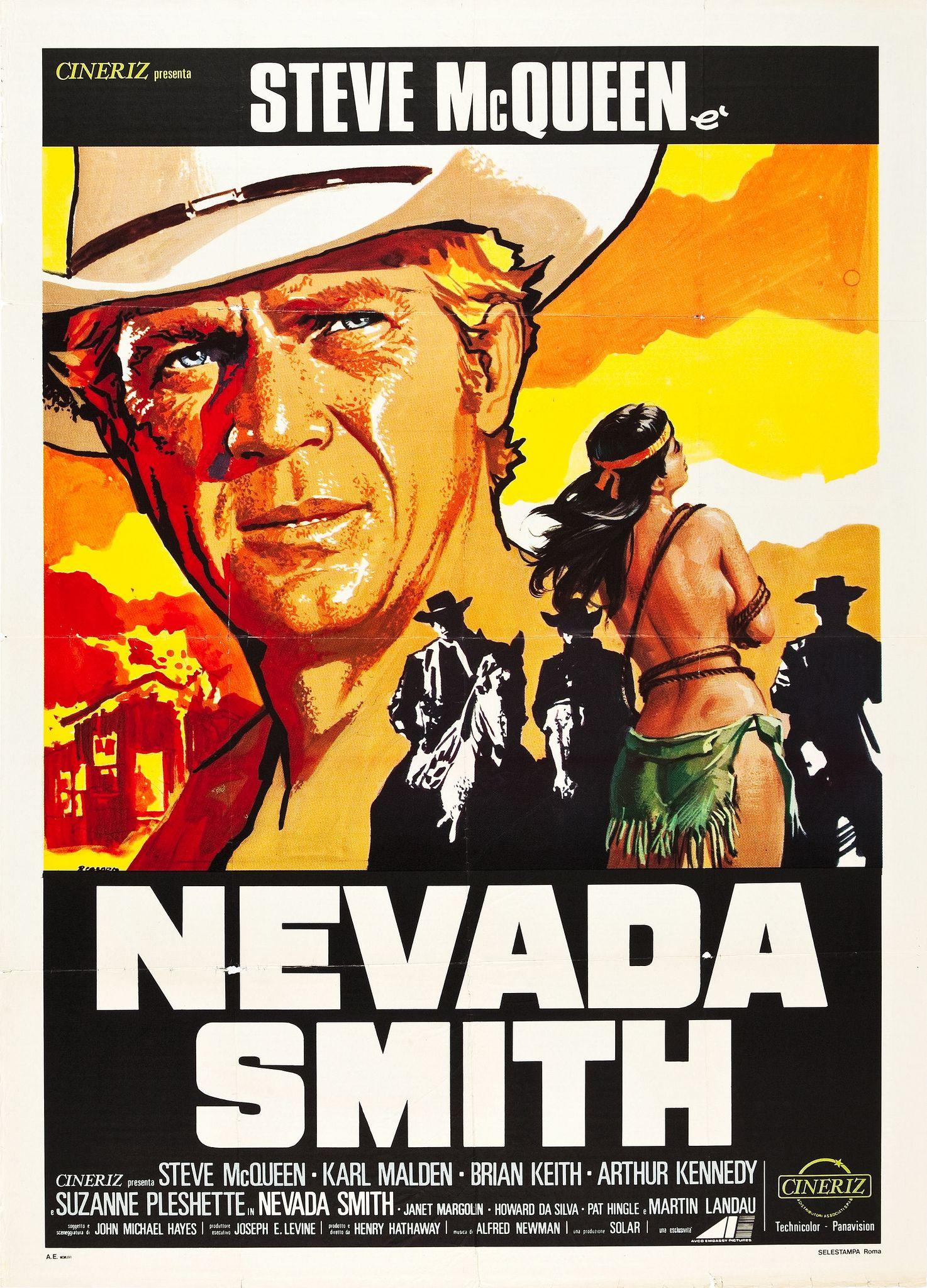 Nevada Smith Cineriz 1966 Italian 2 Foglio 39 X 55 This Stunning Italian Poste Carteles De Peliculas Famosas Carteleras De Cine Carteles De Cine