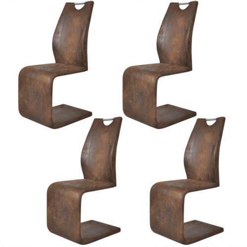 4x esszimmerstuhl design schwingstuhl freischwinger for Esszimmerstuhle schwinger