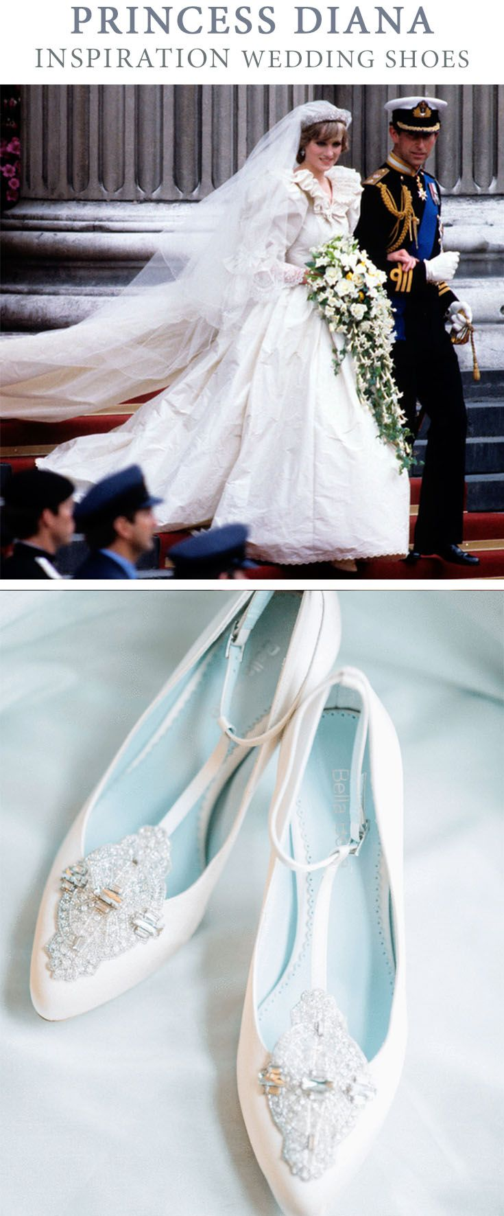 Wedding Shoes Fit For a Royal Princess | Kitten heel wedding shoes ...