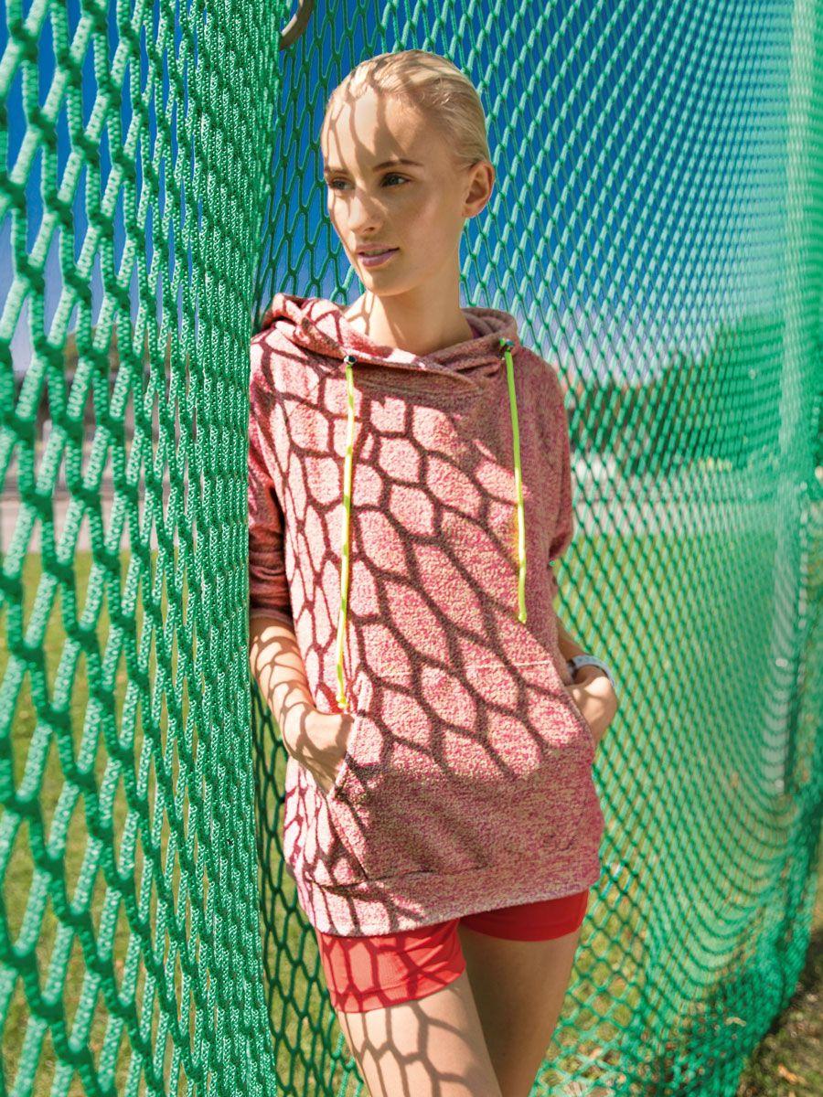 burda style 01/2017 sweatshirt com capuz 2.15m