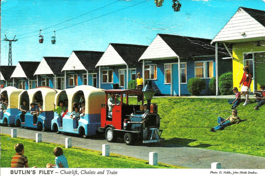 Butlins Filey Chairlift Chalets And Train Butlins Butlins Holidays British Holidays