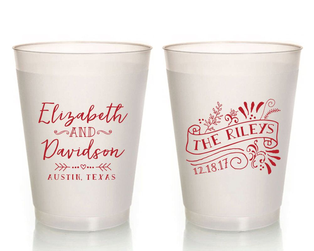 Wedding Cups, Unique Wedding Cups, Wedding Favor Cups, Personalized ...