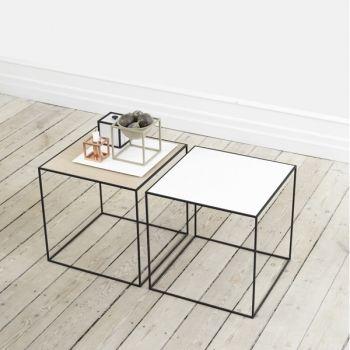 By Lassen Twin sohvapöytä, valkoinen/tammi | By Lassen Twin | Pöydät | Huonekalut | Finnish Design Shop