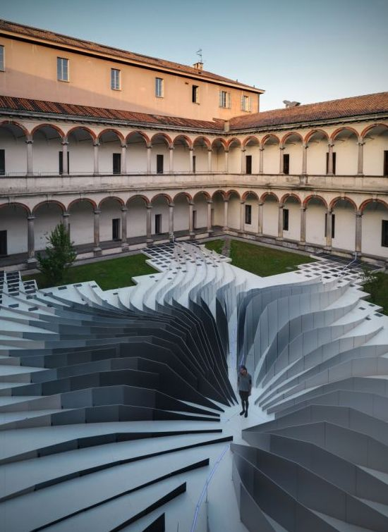 twirl by zaha hadid architects with lea ceramiche installations