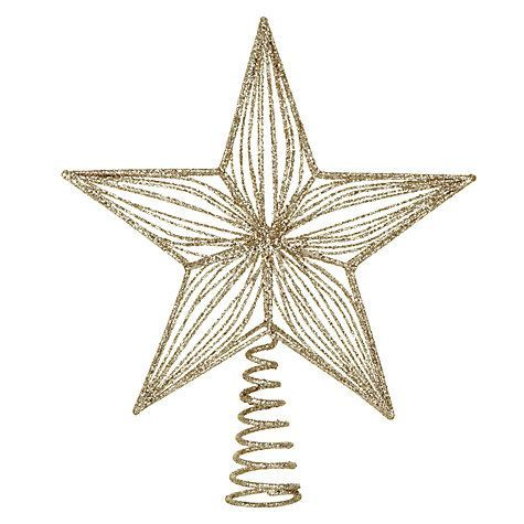 John Lewis Gold Star Christmas Tree Topper As Seen On Thephodiaries Com