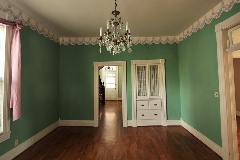 I'm in-love with this color and the room it has so much Character. I like the before picture more then the after