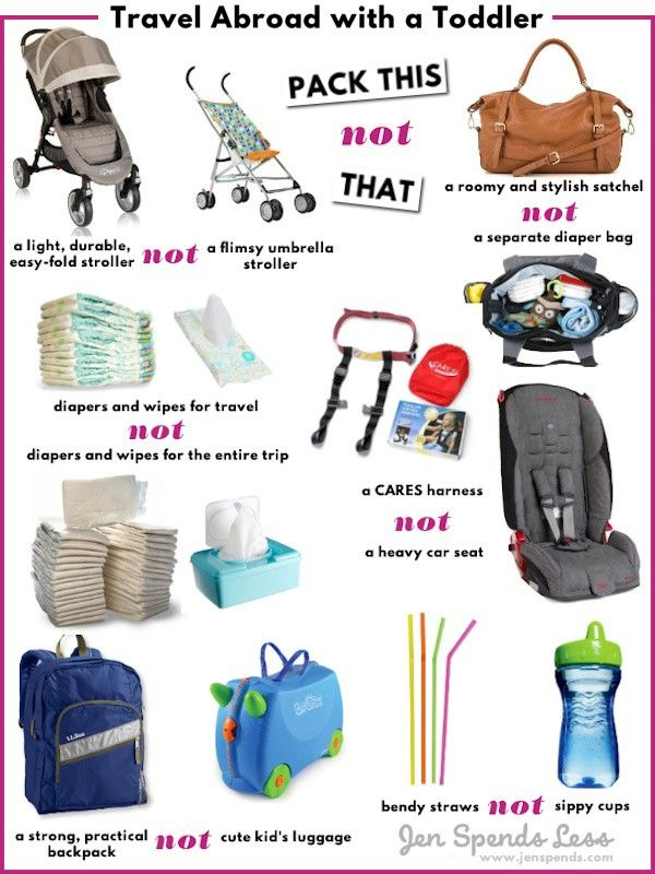 Travel Abroad with a Toddler  How to Pack Light  9fc40fc3a8774