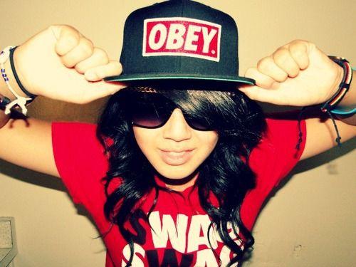 Obey with snapbacks Girl Swag, Girls Obey, Swag Snapbacks.
