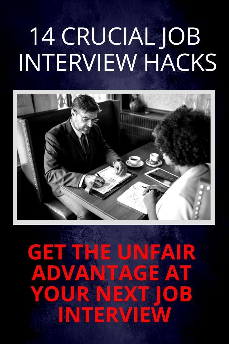 14 Powerful Job Interview Hacks Job Search Job Interview