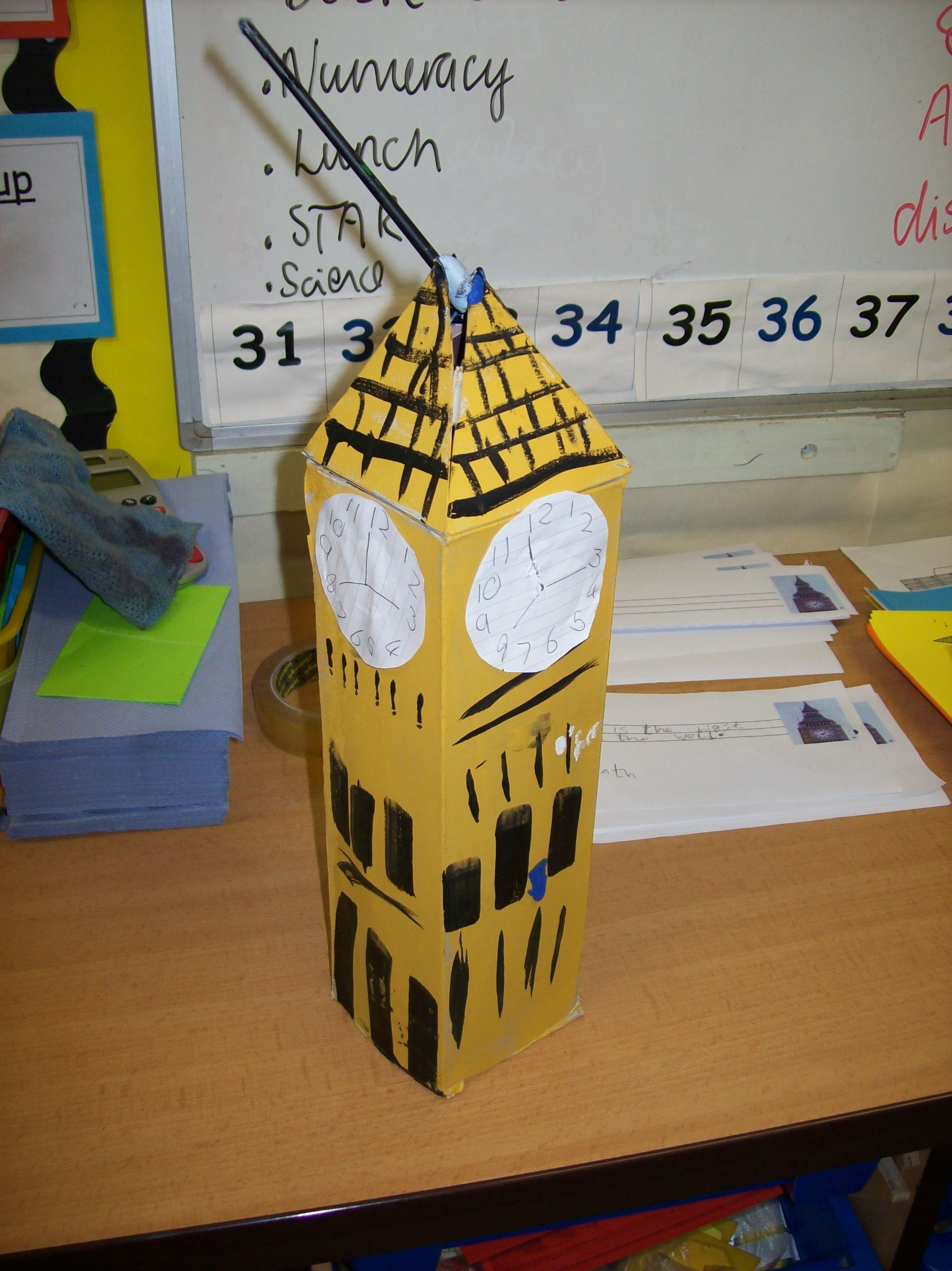 make cardboard big ben - Google Search | London theme, Great fire ...